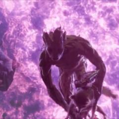 Rocket es salvado por Groot de la explosión.