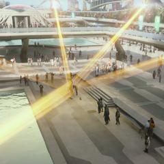Rocket, Gamora y Groot son arrestados por los Nova Corps.