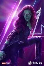 Avengers Infinity War Gamora Poster