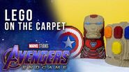 Incredible LEGO Installations at the Avengers Endgame Premiere