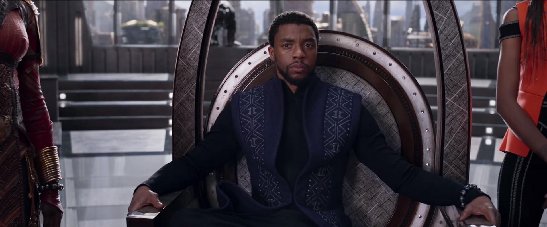 Resultado de imagem para black panther scene throne