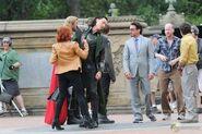 On set The Avengers 1