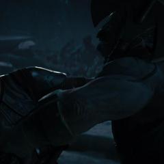 Volstagg pelea con un Gigante de Hielo.