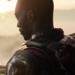 Wilson dirige el Quinjet a Wakanda.