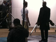 Behind the Scenes Captain America Cap and Nick Fury