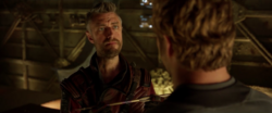 Kraglin is given the Yaka Arrow