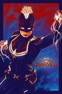 Captain Marvel 1 Billion Mark Poster