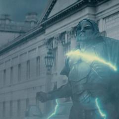 Malekith absorbe los ataques de Thor.