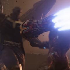 Thanos es confrontado por Stark.
