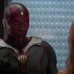 Visión propone sacrificarse para impedir que Thanos obtenga su Gema de la Mente.