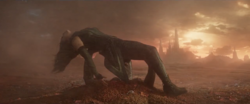 Mantis is saved by Drax
