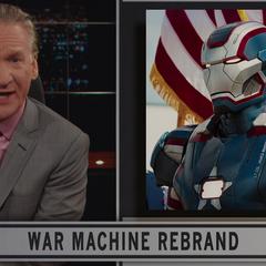Máquina de Guerra convertido en Iron Patriot.