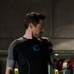 Stark invoca las piezas del Mark XLII.
