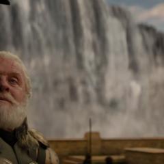 Odín espera la llegada de Thor.