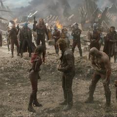 Quill y su equipo tras haber aniquilado a Ronan.