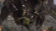 Hulk punches Leviathan