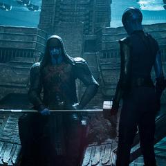 Nebula se reúne con Ronan durante la Batalla de Xandar.