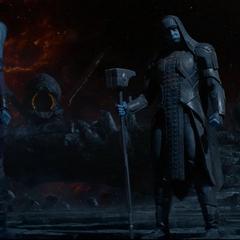 Nebula abandona el Santuario con Ronan.