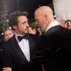 Stane antes de separarse de Stark.