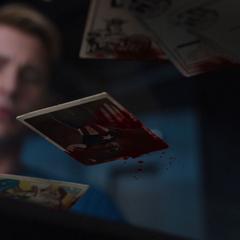 Rogers informándose de la muerte de Coulson.