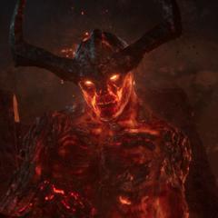 Surtur habla con Thor sobre el Ragnarök.