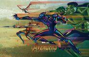 Fandango Avengers Infinity War mini poster team 5