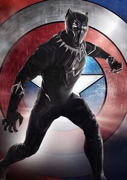Pantera Negra Poster - Civil War