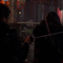 Barton pelea con Akihiko.
