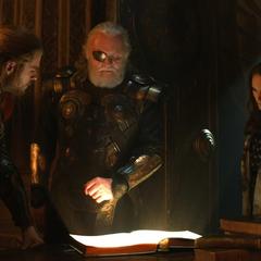 Foster y Thor se enteran por Odín de las Gemas del Infinito.