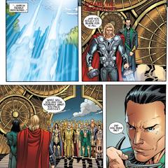 Thor y Loki regresan a Asgard.