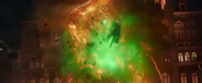 Mysterio defeats Molten Man