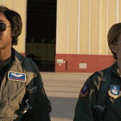 Danvers y Rambeau en la Fuerza Aérea de los Estados Unidos.