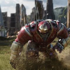 Banner dentro de la armadura Hulkbuster.