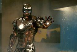 Iron Man Mark II party fight scene