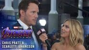 Scarlett Johansson & Chris Pratt take over at Avengers Endgame LIVE Premiere