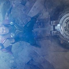 Thor canaliza un rayo para destruir la ciudad antes del impacto.