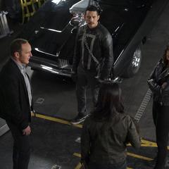 Johnson, Coulson, May y Reyes reunidos.