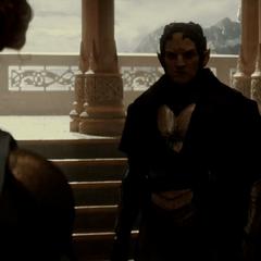 Malekith le exige a Frigga el Éter.