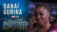 Danai Gurira at Marvel Studios' Black Panther World Premiere Red Carpet