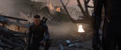 Hawkeye kneeling