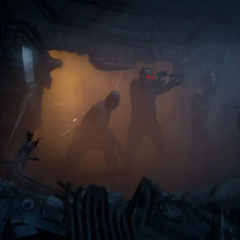 Quill ataque la Nave-Q con Drax y Mantis.