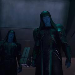Ronan dirige el ataque a la Tierra para eliminar a los Skrulls.