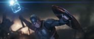 Captain America uses Mjolnir