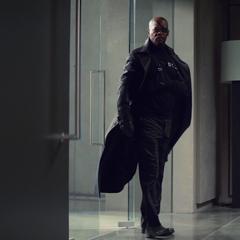 Fury regresa al Triskelion tras recuperarse.