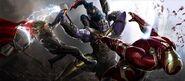 Thanos Battle concept art 2