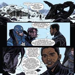 Rogers y Barnes se encuentran con T'Challa.