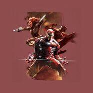 CW promo Iron Man Black Panther Black Widow