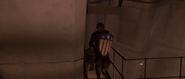 Captain America leading Sergeant Barnes (HYDRA Austrian Base)