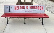 Nelson and Murdock advertisement bench4