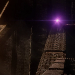 Ronan dirige su Vara Cósmica a los Nova Corps para eliminarlos.